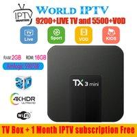 iptv arapça kanallar toptan satış-TX3 mini Android tv kutusu wit wit abonelik 30 + ülkeler 5000 + canlı ve vod Fransa ABD İNGILTERE portekizce arapça kanal paketi IPTV Kutusu