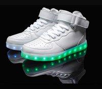 ingrosso i pattini principali superiori bianchi-2016 nuovo bianco nero high-top flat light scarpe da uomo moda uomo ha portato le scarpe per gli adulti scarpe 7 colori vendita calda scarpe plus size 35-46