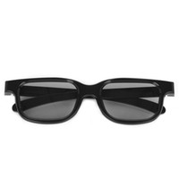 Wholesale Circular Polarized Passive D Stereo Glasses Black For D TV Real D IMAX Cinemas