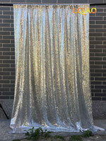 blauer hintergrund großhandel-120x300cm Silber Pailletten Kulissen, Glitter Pailletten Vorhang, Hochzeit Photo Booth Hintergrund, Fotografie Hintergrund, Party Dekoration