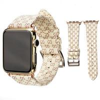 Wholesale sports watch design resale online - Brand design Leather Watchbands for Apple Watch Band mm mm iwatch bands Leather Strap Sports Bracelet Sport mm mm