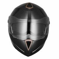 шлем с полным лицом оптовых-DOT анфас Флип вверх мотоциклетный шлем двойной козырек велосипеда мотокроссу Black M
