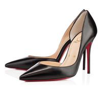 Wholesale christians shoes resale online - Classic Christians Women Red Bottom Pumps High Heels Peep Toe Stiletto Dress Shoes Platform Patent Leather Matte color08CM CM