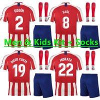 menino diego venda por atacado-2019 Atlético Madrid GRIEZMANN Camisa de futebol 2020 KOKE SAUL DIEGO COSTA camisa de futebol 19 20 Homens Kit de crianças Garoto criança uniformes