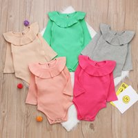 Wholesale clothes for kids winter for sale - Summer Baby Girl Rompers Spring Princess Newborn Baby Clothes For Girls Boys Long Sleeve Jumpsuit Kids Baby Outfits Clothes