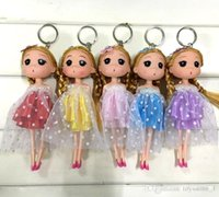 Wholesale baby girl pendant for sale - Group buy 18cm Korean girl wedding confused doll wedding doll married bride key chain pendant creative gift