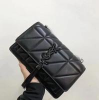 mais vendido venda por atacado-Best-seller 2019 mais popular senhoras bolsa de ombro xadrez messenger bag moda bolsa carteira. Tamanho preto: 22,17.17