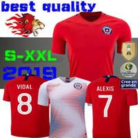 chile jerseys venda por atacado-2019 Chile Copa América Camisolas De Futebol ALEXIS VIDAL VALDIVIA MEDEL PINILLA VARGAS 19 20 Casa Fora Futebol Camisa 2020