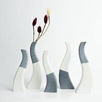 handgemachte keramische blumen großhandel-Nordischen stil europa keramik vase blumentopf tabelle kreative handgemachte porzellan zarte hochzeit dekoration zubehör