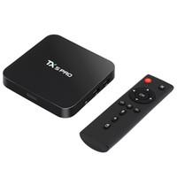 Wholesale android tv 6.0 resale online - TX5 Pro GB GB TV BOX Amlogic S905X HD Android TV Box Quad Core P D H K Bluetooth Smart Set Top Box