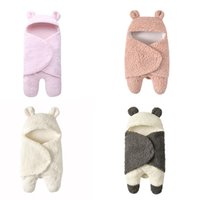 Wholesale bag lamb for sale - Group buy INS color Autumn winter Infant children super soft plush lamb wool blankets sleeping bags baby Infant baby supplies M046