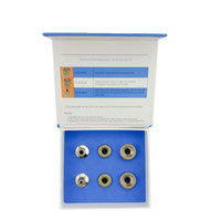 Wholesale facial machine set resale online - Top Quality beauty machine accessory Microdermabrasion Diamond Stainless Wands Skin Rejuvenation Facial Care Device set Diamond Tips