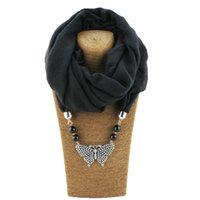 Wholesale butterfly accessories fashion resale online - Newest Women Fashion Alloy Necklaces Pendant Scarf Ladies Fashionable Charms butterfly Jewelry Accessories Scarves