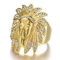 Wholesale indian tribe for sale - Group buy Indian aborigines fashion jewelry rings chief of a tribe titanium steel casting rings party engagement anniversary gifts for men