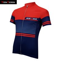 e868a08fce5 retro cycling jerseys men Canada - VIDATIERRA 2019 men cycling jersey red  deep blue Simple lines