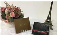 erkekler için kahverengi cüzdan toptan satış-Kahverengi moda stil erkekler çanta cüzdan kaliteli deri yumuşak bifold kredi kartı sahipleri cüzdan erkekler ücretsiz kargo için hiçbir kutu 03