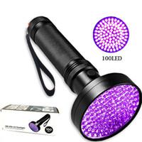 ingrosso lampadine ultrafire-3W UV nero torcia 100 LED migliore luce UV per l'ispezione domestica dell'hotel, macchie di urina di animale domestico faretti a LED LJJZ445