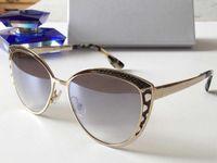 metal çerçeveler takılar toptan satış-Bayan Marka Tasarımcısı Lüks Güneş DOM metal çerçeve büyüleyici kedi göz gözlük avant-garde tasarım stil en kaliteli UV400 lens gözlük