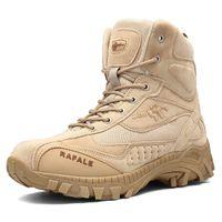 ingrosso stivali alti-2019 Uomo Inverno Stivali Militari Moda Army Stivali da uomo Tactical Desert Combat High Top Stivaletti Uomo Outdoor Work Shoes Uomo
