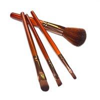 ingrosso spazzole per labbra-Meinaiqi 4Pcs Pennelli per trucco Set in nylon ondulato Blush in lana / Ombretto / Sopracciglio / Pennello per labbra Kit di strumenti cosmetici