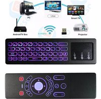 Wholesale wireless remote control htpc for sale - Group buy 30PCS T6 Air mouse with Wireless Keyboard T6 backlight touchpad Remote Control for Smart TV Android TV Box mini PC HTPC for Projector