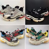 Wholesale casual shoes for children for sale - Group buy 2019 Kids Luxury shoes Triple s Big Kids Designer Sneakers Paris Triple S Children Running Casual Shoes for Boys Girls Trainers Size