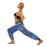pantalones de yoga danza del vientre al por mayor-Estampado de danza del vientre Bloomers suelta Yoga pantalones de pierna ancha Mandala de secado rápido cómodo cinturón elástico transpirable pantalones deportivos 29mlD1