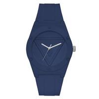 женщина часы запястье роскошь оптовых-Люксовый бренд кварцевые наручные часы для женщин девушка с треугольным стилем вопросительный знак циферблат силиконовый ремешок часы GS20