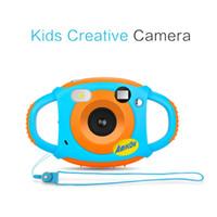 Wholesale mini camera design resale online - Mini Children Innovative Camera Inch HD Color Screen MP Self Portrait Mirror Design Long life Creativity Neck Camera