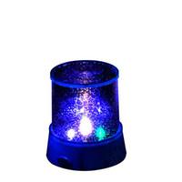 luces led coloridas estrellas del cielo estrella al por mayor-New Lovely Colorful LED Proyector de Luz Nocturna Starry Sky Star moon Master Niños Niños Baby Sleep Romántico colorido Led Lámpara de Proyección USB