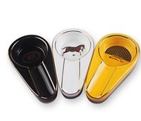 Wholesale fashion ashtray gift online - Cigar Gadgets Ceramic Cigar Ashtray Single Cigar Holder Round Ash Slot Colors Yellow Tobacco Cigarette Ashtray Gift Box Fashion