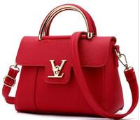 kore çantası tote toptan satış-Tasarımcı tote çanta Kore yeni deri kadın Lüks Lady Omuz Crossbody Çanta çanta ücretsiz kargo