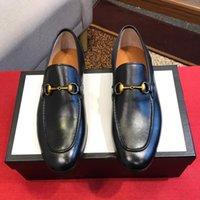 мужская формальная обувь оптовых-Высокое качество кожа бездельник с GG Web Мужская обувь винтажный дизайн легкий плюс размер обувь Мода формальные Мужская обувь Zapatos де hombre