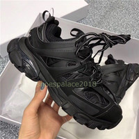 Wholesale canvas shoes women s low resale online - Men Women Casual Shoes Track Sneakers Tess Paris Men Gomma Maille Black Low Track M Triple S Shoes Outdoor Jogging Designer Clunky