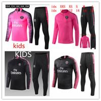çocuklar koşu toptan satış-Çocuklar Psg eşofman 2019-2020 psg futbol koşu ceket 2019-2020 Paris çocuk Futbol Eğitimi uygun