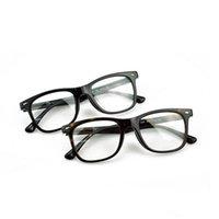 Wholesale metal myopia frame online - Eyeglasses Optical Glasses Frame Spectacles Brand Myopia Frame Fashion Retro Italy Brand Optical Big Frame Black Glasses with Case