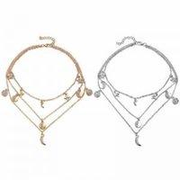 güzel kristal kolyeler toptan satış-Kadın Retro Çok katmanlı Kristal Kolye Moda Kolye Kazak Zincir Takı Kızlar Güzel Zincirler Bayanlar Büyüleyici Kolye LJJW94