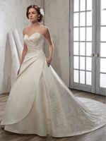 marfim casamento cetim vestidos vintage venda por atacado-Grace Ivory Satin Querida Applique Beads Botões Trem A Linha de Vestidos de Noiva Vestidos de Noiva Vestidos de Noiva Tamanho Personalizado 2-18 KW121028