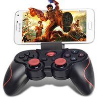 Wholesale T3 Game Controllers Gamepad Wireless Joysticks Bluetooth Gaming Remote Control for Smart Phones Tablets PC Computer TVs TV boxes
