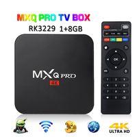 iptv top venda por atacado-MXQ PRO 1 GB 8 GB TV 4K Caixa RK3229 Quad Core Android 7.1 Árabe IPTV Inteligente OTT TV Set Top Boxes