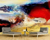 Wholesale colorful modern oil paintings for sale - Group buy Custom Any Size d Wallpaper Colorful Colors Bloom Art Oil Painting Home Decoration Exquisite Advanced d Wall Paper