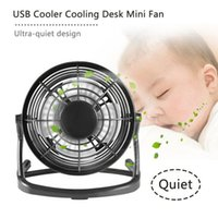 Wholesale mini pc cooling fan for sale - Group buy mini fan DC V Small Desk USB Blades Cooler Cooling Fan USB Mini Fans Operation Super Mute Silent PC Laptop Notebook