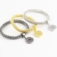 Wholesale button bracelets for sale - DIY Noosa Chunk mm Metal Button Bracelet DIY Ginger Snap Button Statement Jewelry Snap Button Bracelet Charms