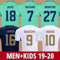 xl 18 großhandel-Fußball Trikots Real Madrid 19 20 Gefahr JOVIC MILITAO soccer jersey T-Shirt 2019 2020 kids VINICIUS JR ASENSIO Fußball Trikot Kinder MARCELO ISCO T-Shirt
