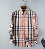 männer polka kleid hemden groihandel-Groß- und Kleinhandel Kleid Shirt für Männer Mode Luxus Art und Weise beiläufigen Entwerferkleid polka dot shirt Bodybuilding Geschäft shirt.09548