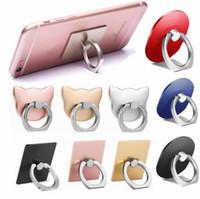 mobiler fingergriff großhandel-Universal handy finger ring halter 360 grad handy grip ständer halter faule schnalle für iphone xs max xr x smartphone halter