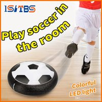 Wholesale levitating toys resale online - LED Suspension Football Indoor Sport Levitate Football Toys Air Power Soccer Ball For Parent child Interaction Decompression Toy