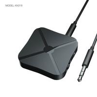 tv inalámbrica para coche al por mayor-2 EN 1 Receptor Transmisor Bluetooth 3.5mm Adaptador Inalámbrico Bluetooth 4.2 Audio Estéreo Dongle Para TV Coche / Altavoces para el Hogar KN319
