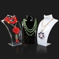 Wholesale mannequins sale resale online - Hot Sale Three Colors CM Mannequin Necklace Jewelry Pendant Display Stand Holder Show Decorate Jewelry Display Shelf