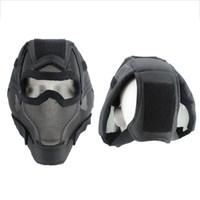 máscara de boca de bicicleta venda por atacado-Caça bicicleta Máscara Facial Respirável À Prova de Choque Baixo Carbono Aço Boca Protetor de Ouvido Ciclismo Ao Ar Livre Sportswear